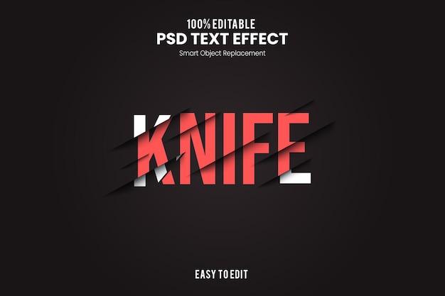 Эффект knifetext