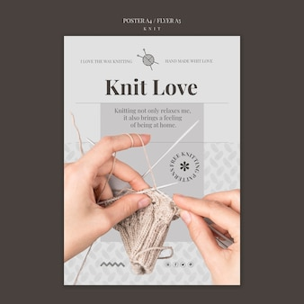 Knit concept flyer template