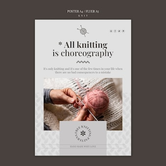 Knit concept poster template