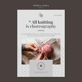 Modello di poster di concetto di maglia