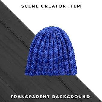 Knitted hat isolated with clipping path.