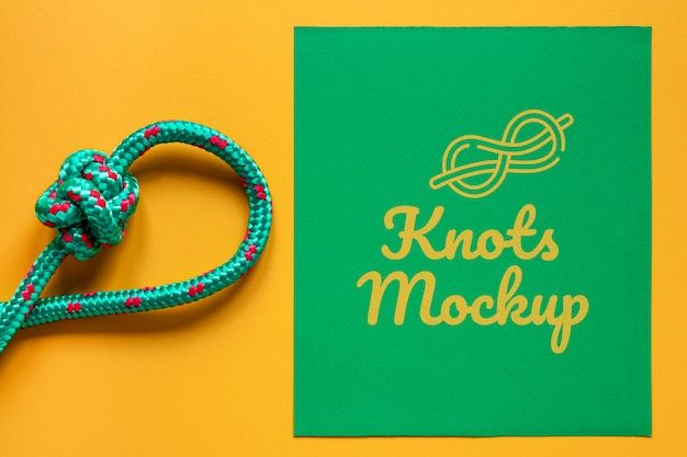 Knots mock-up with yellow background