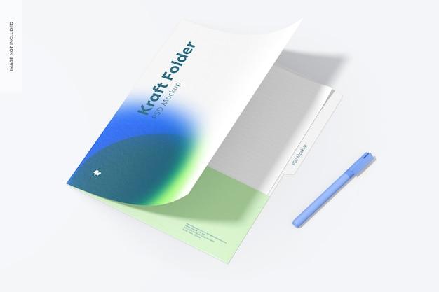 Kraft folder mockup
