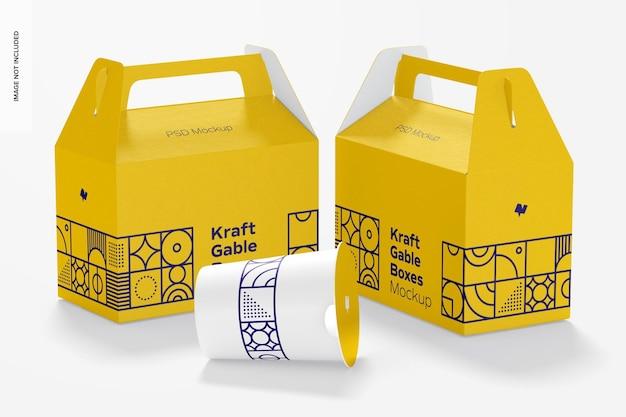 크래프트 박공 상자 모형, 왼쪽 및 오른쪽보기