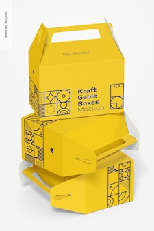 크래프트 박공 상자 세트 모형
