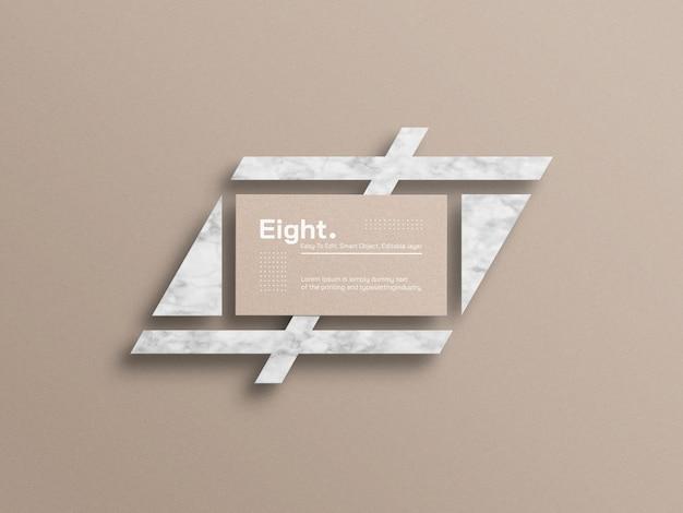 Макет визитки из крафт-бумаги