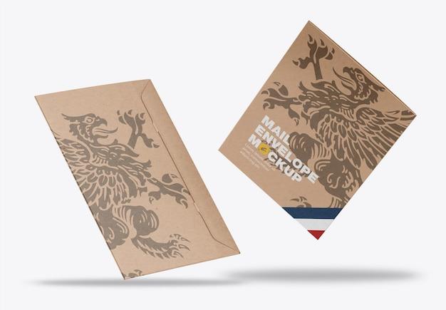 크래프트 종이 봉투 목업