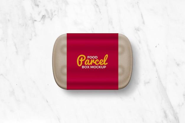 Kraft paper food parcel box mockup