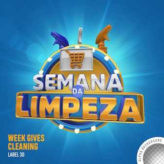Label 3d week gives cleaning