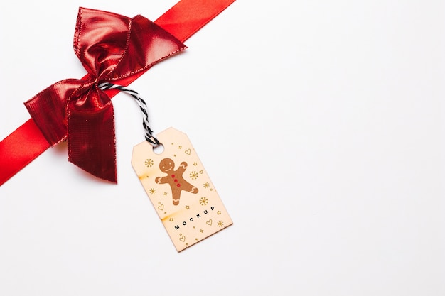 Label mockup with christmas concept