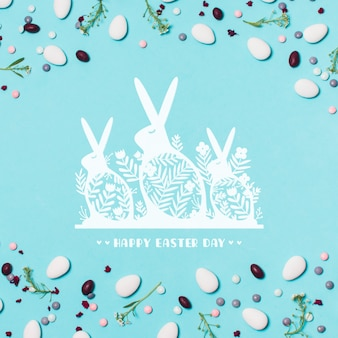 Label mockup with easter concept
