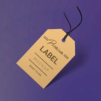 Label or price tag mockup