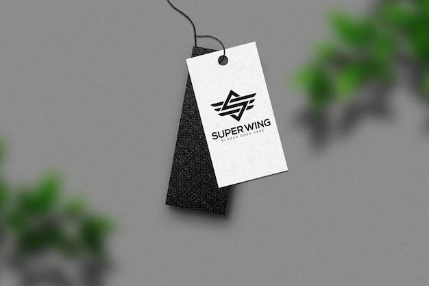 Label tag logo mockup template