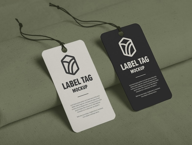 Label tag mockup design