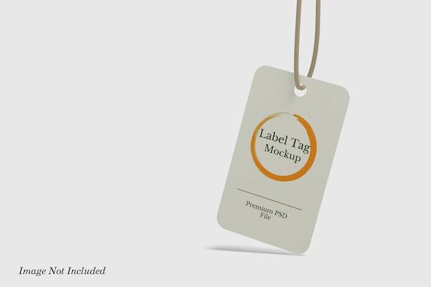 Label tag mockup premium psd