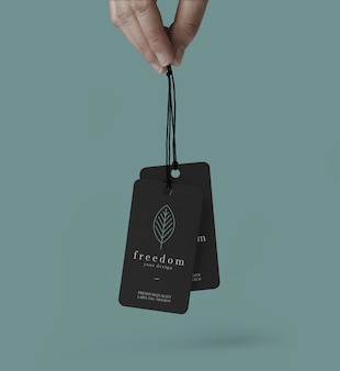 Label tag mockup template