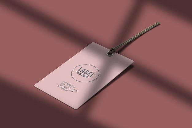 그림자 오버레이가있는 라벨 태그 모형