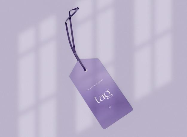 タグのモックアップに影を付けます。販売コンセプト