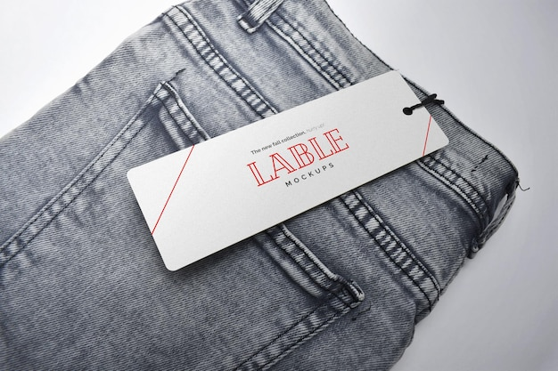 Label tag mockup