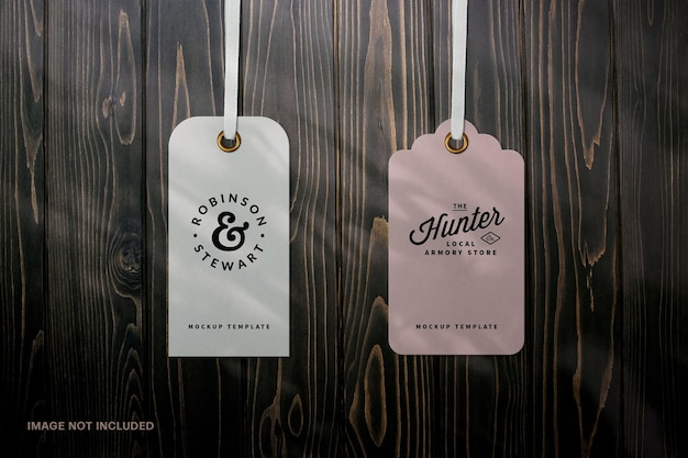 Label tags mockup scene