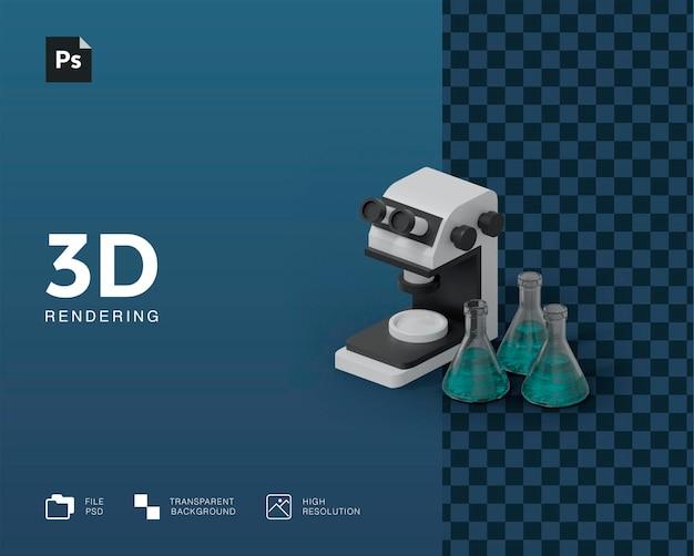 Иллюстрация лабораторного оборудования Premium Psd