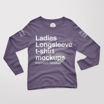 여성용 긴팔 티셔츠 모형