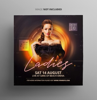 Ladies night party flyer шаблон