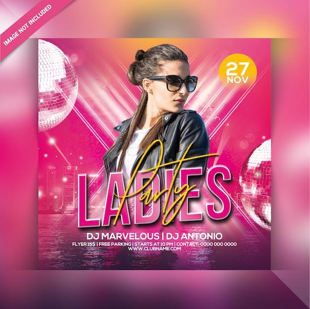 Ladies party flyer
