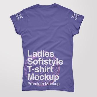 숙녀 softstyle 백 t셔츠 모형
