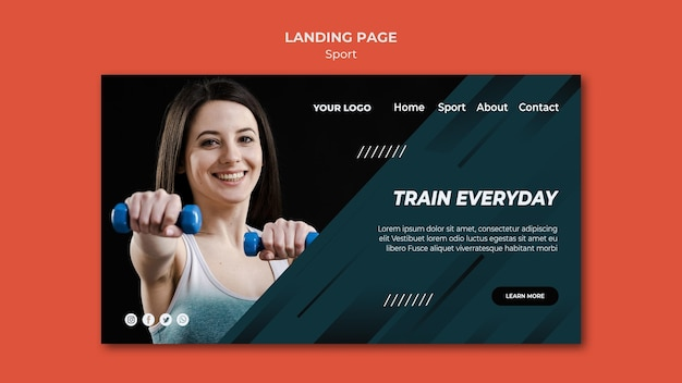 Lading page template sport
