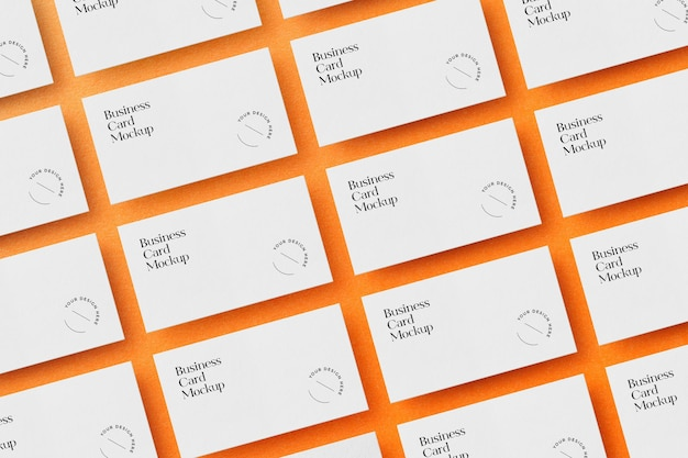 Laid out business cards mockup