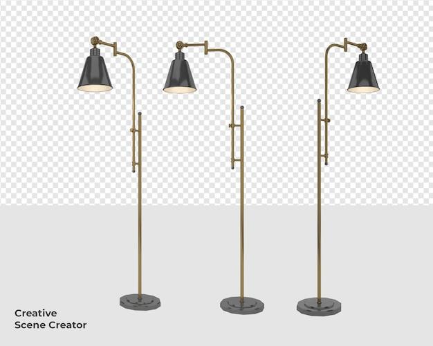 Украшение лампы в дизайне рендеринга