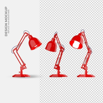 Lamp decoration in rendering mockup