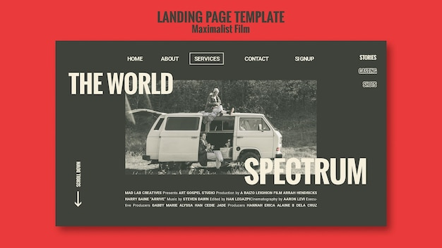 Landing page acting agency template