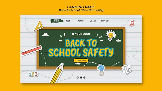 Landing page for back to school season