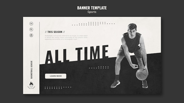 Landing page basketball ad template
