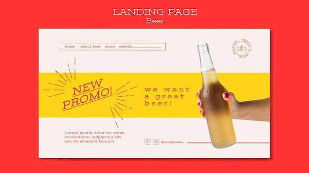 Landing page for beer lovers
