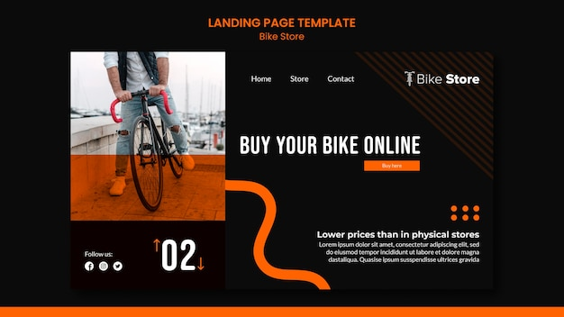 Landing page for bike store