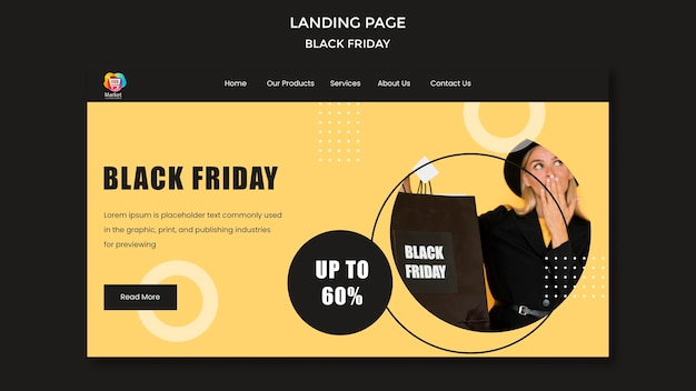 Landing page black friday template