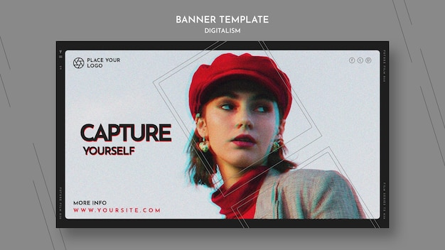 Landing page for capture yourself theme