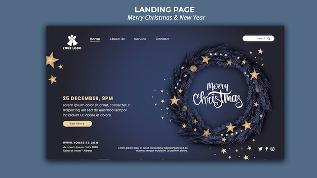 Landing page for christmas and new year