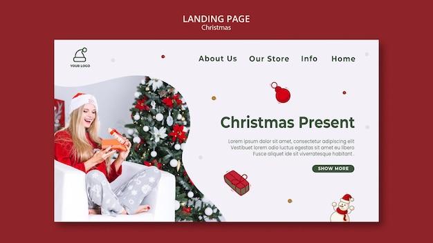 Modello di negozio di regali di natale della pagina di destinazione