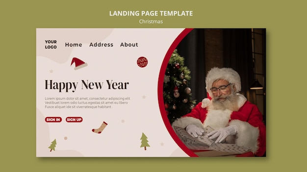 Landing page for christmas shopping sale
