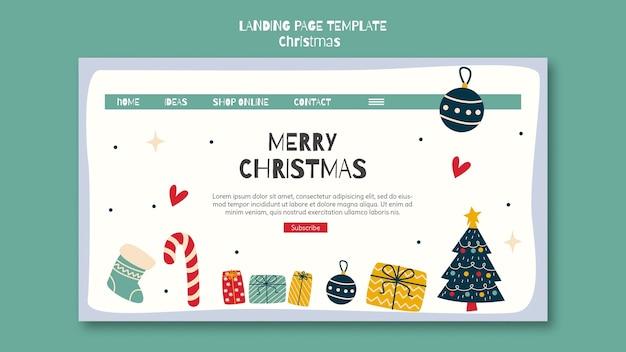 Landing page for christmas