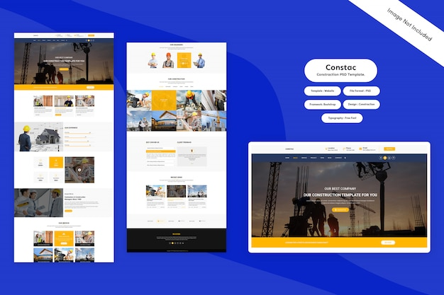 Landing page  - constraction psd