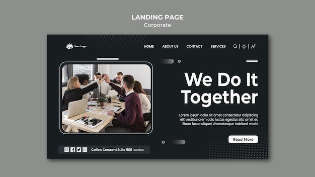 Landing page corporate ad template