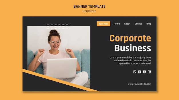 Landing page for corporate business