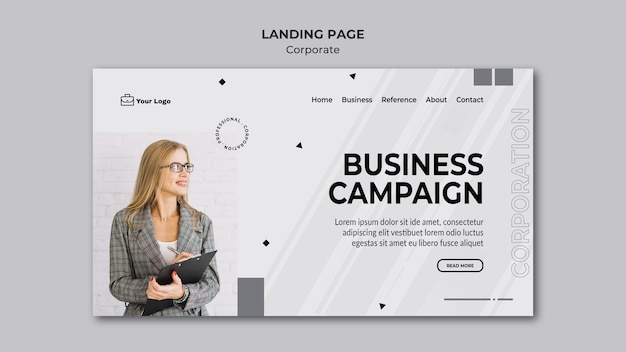 Landing page corporate design template