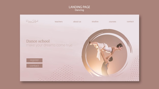 Landing page for dancing performers