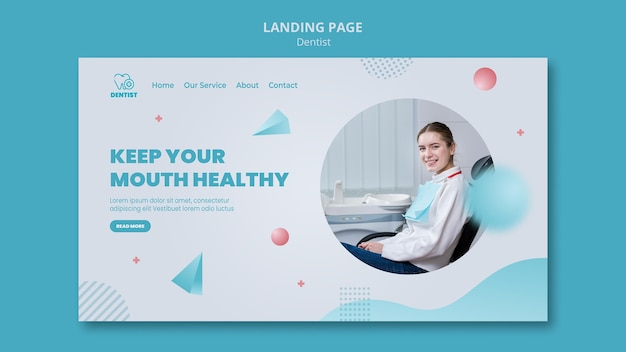 Landing page dentist clinic template